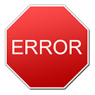 This error image links to a PDF of a Registrar's document explaining common registration error messages