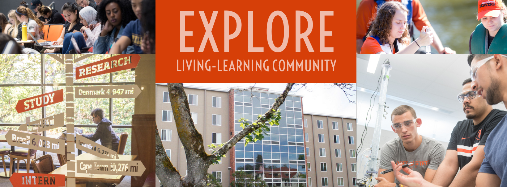 This image links to the website for the EXPLORE Living Learning Community
